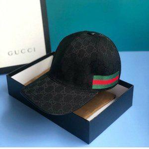 Gucci Caps Monogram Canvas Web Baseball Men /Women